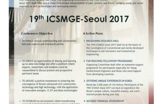 Download ISSMGE Bulletin – Volume 7_No. 4 pp. 25-26 - 19th ICSMGE – SEOUL 2017 Download19th ICSMGE – SEOUL 2017