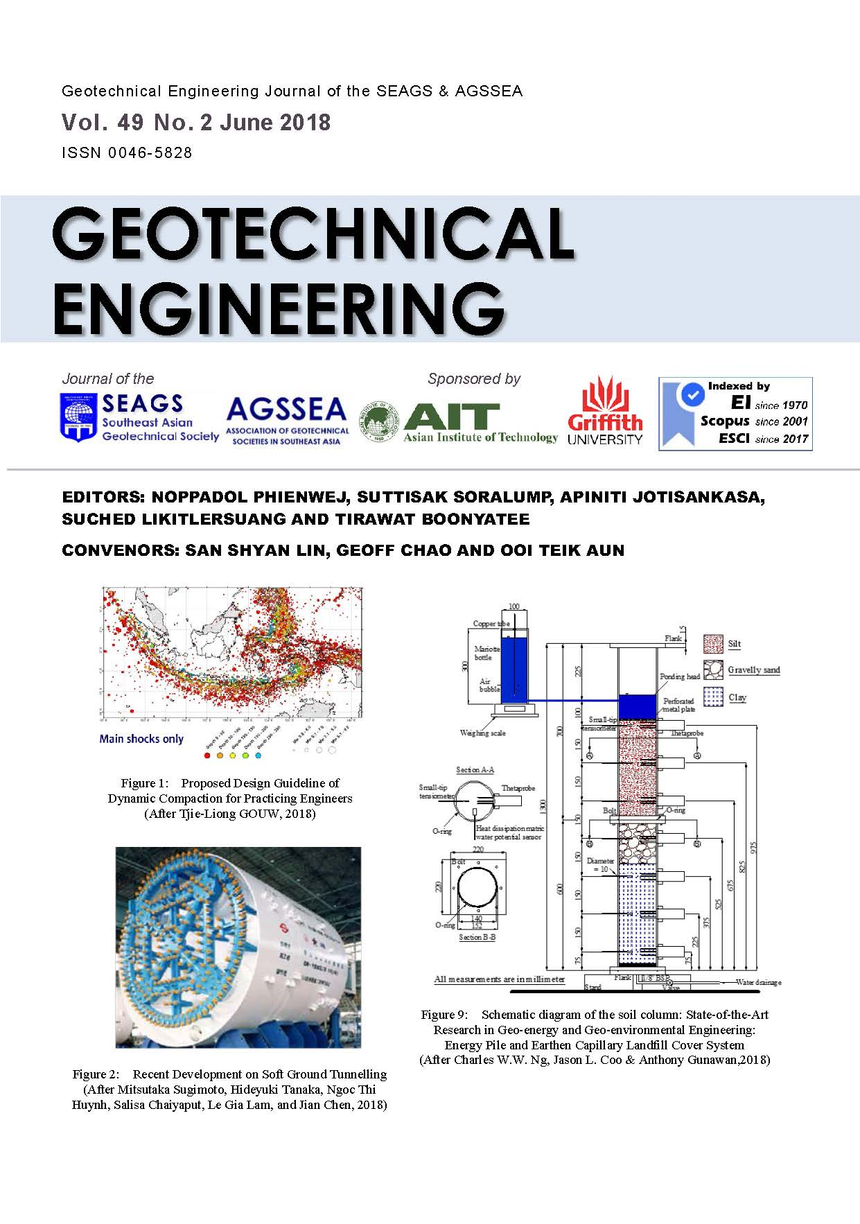 Geotechnical Engineering Journal of the SEAGS & AGSSEA Vol. 49 No. 2 June 2018 ISSN 0046-5828 Editors: Noppadol Phienwej, Suttisak Soralump, Ainiti Jotisankasa, Suched Likitlersuang and Tirawat Boonyatee Convenors: San […]