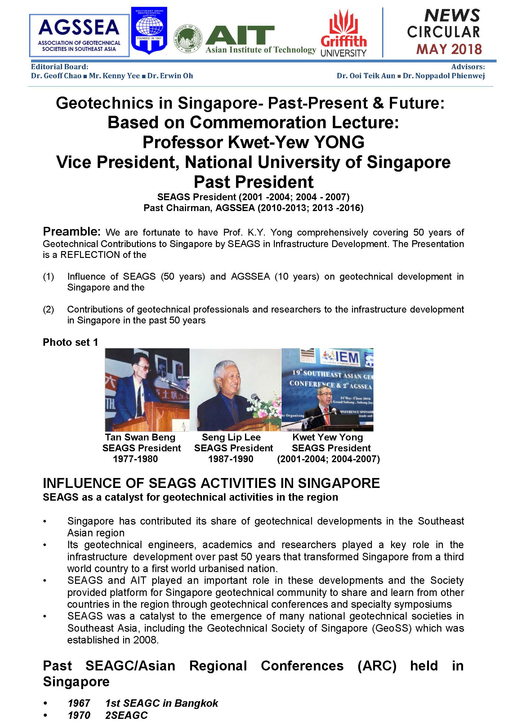 Geotechnics in Singapore-Past-Present & Future: Based on Commemoration Lecture: Professor Kwet-Yew YONG [cont.]