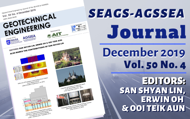 Geotechnical Engineering Journal of the SEAGS & AGSSEA Vol. 50 No. 4 December 2019 ISSN 0046-5828 Editors: San Shyan Lin, Erwin Oh & Ooi Teik Aun Sponsored by: Asian Institute […]