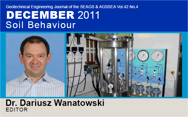 Special Issue on Soil Behaviour / Guest Editor: Dr. Dariusz Wanatowski