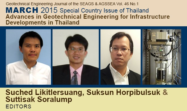 March 2015 Special Country Issue of Thailand – Dr. Surachat Sambhadharaksa Memorial Issue: Advances in Geotechnical Engineering for Infrastructure Developments in Thailand Edited by : Suched Likitlersuang, Suksun Horpibulsuk, Suttisak […]
