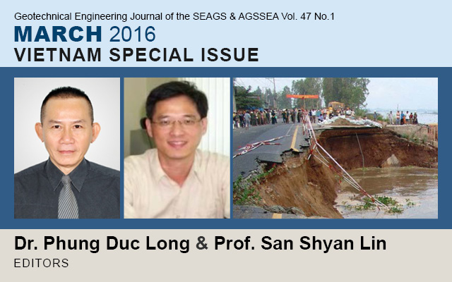 Vol. 47 No.1 March 2016: VIETNAM SPECIAL ISSUE / Edited by Dr. Phung Duc Long & San Shyan Lin